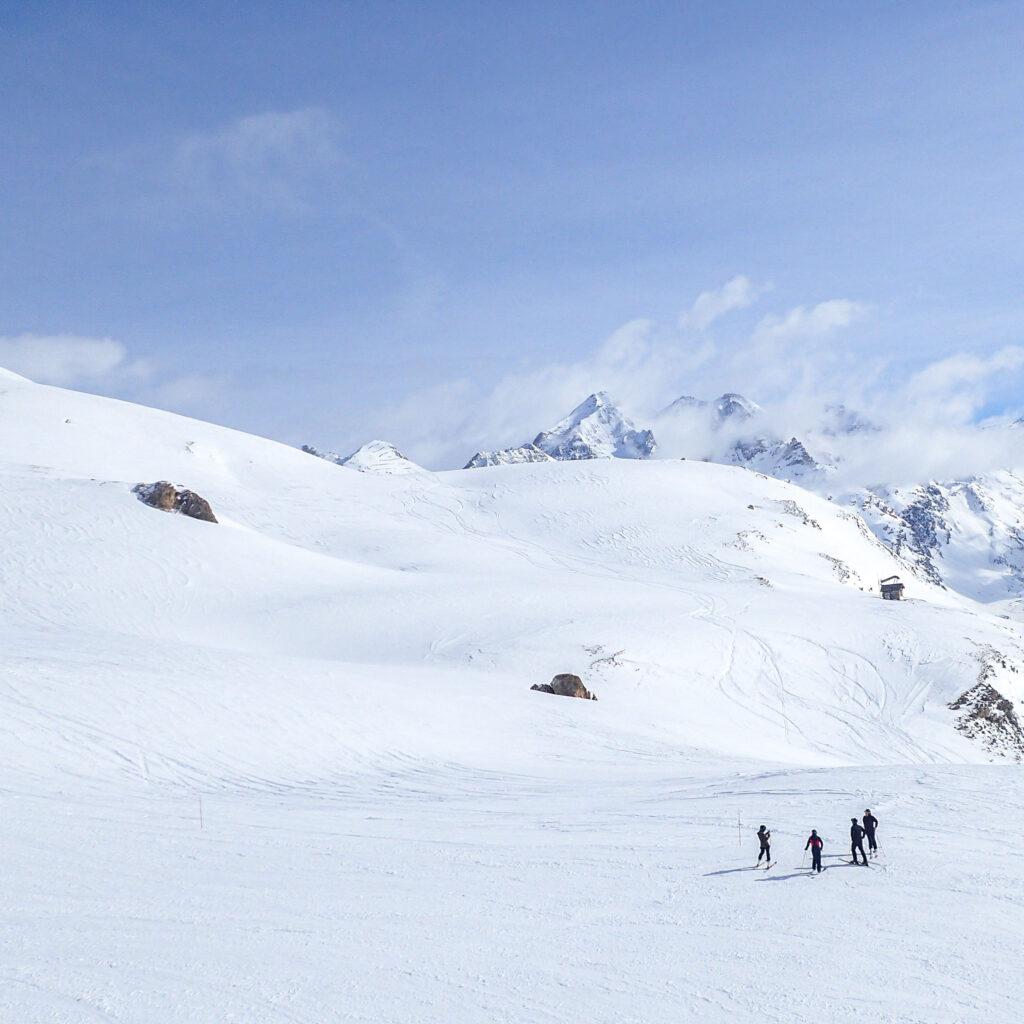 ©Aurélie Marcellak | Des skieurs à Tignes